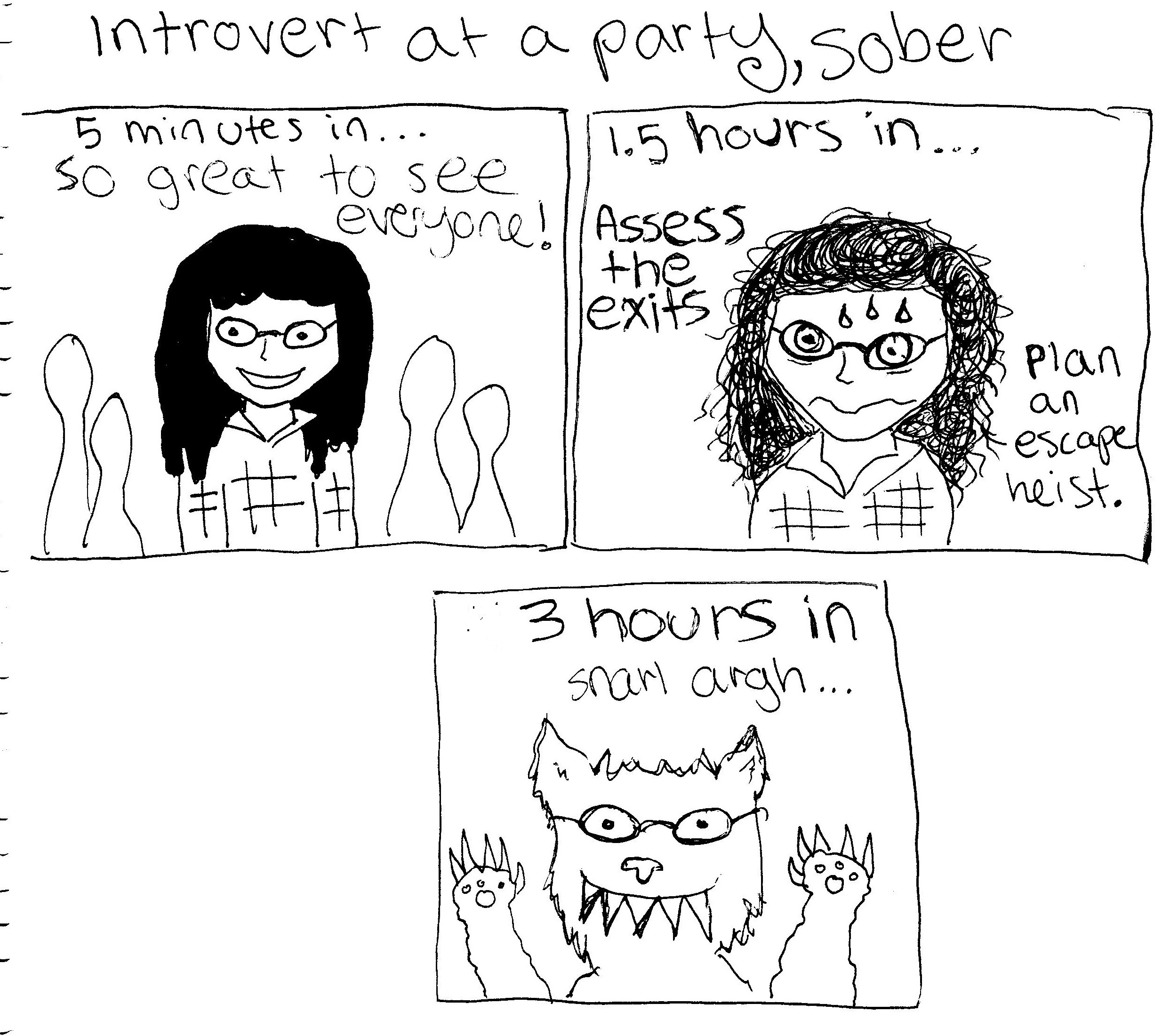 Introvert at a party not drinking